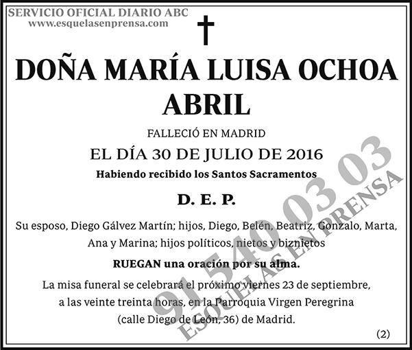 María Luisa Ochoa Abril
